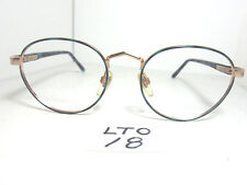 Nos Vtg ANTHONY MARTIN Eyeglass Frame Madison 16 Black Horn Gold 1980s (LTO-18)