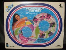 "Vintage 90's 1994 INTEX Transparent Sun Tube 39"" Round Swim Pool Tube #58213 NEW"