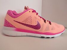 Nike Womens Free 5.0 TR Fit Breathe UK 4 Sunset Glow Pink Peach 718932800