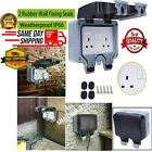 Waterproof Outdoor Garden Switched 13Amp 2 Gang Switch External LED Wall Sockets