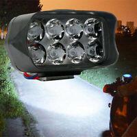 Motorcycle Spot Fog Light Headlight Waterproof 8 LED Front Head Lamp 12V-90V 12W