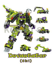 Transformers Decepticons Devastator Building Blocks Bricks toys Robot Hero 6 in1