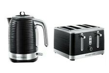 Russell Hobbs Inspire Kettle And 4 Slice Toaster Black