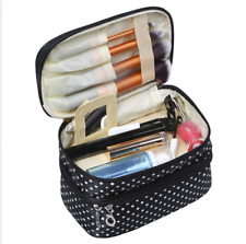 Multifunction Travel Cosmetic Makeup Bag Wash Organizer Storage Case Black