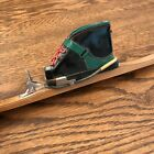 """ANTIQUE 9"""" LONG CROSS COUNTRY SKI.& SKI BOOT MATCH  MATCHES HOLDER EDELWEISS"""