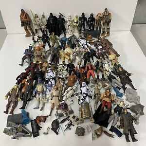 Vintage Star Wars Action Figure Collection Lot - 1990's 2000's Figurines
