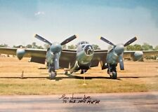 GEORGE DUNN  - PILOT WWII - BOMBER COMMAND - EXCELLENT SIGNED COLOUR PHOTOGRAPH