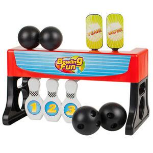 Jeu de Bowling Quilles 2 en 1 - Avec tir de balles sur cible