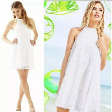 LILLY PULITZER White Lace Quinn Halter Swing Dress Size XL NWOT