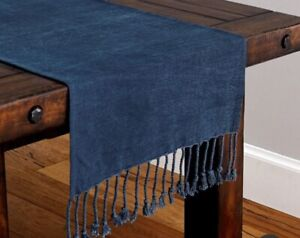 Pottery Barn Indigo Knotted 22 x 108 Table Runner
