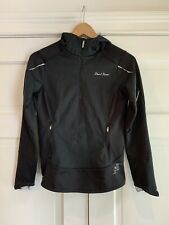 PEARL IZUMI Elite Womens Cycling Jacket Sz S Black Quarter Zip Hooded Lined