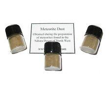 Meteorite dust from NWA stones in display vial Sahara Desert shooting star dust