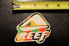 """Reef Rasta surf wave sandals yellow 3"""" Vintage Surfing Decal Sticker"""