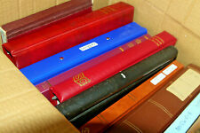 BOX WITH 9 COLLECTIONS SOLD AS ONE LARGE LOT - MINT AND USED WORLDWIDE ALL ERAS