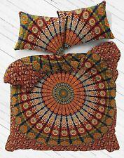Indian Hippie Mandala Bed Quilt Duvet Doona Cover Boho Queen Size Bedding Set