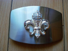 Famous 3D Silver Color Fleur De Lis Belt Buckle