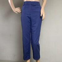 CHICOS SO SLIMMING SIZE 0.5 Navy Blue High Waist Cuffed Crop Capri Stretch Pants