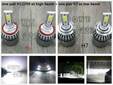 NEW H11 / H9+H7 Combo CREE LED Headlight Bulbs Kit High Low Beam 6000K White 55W