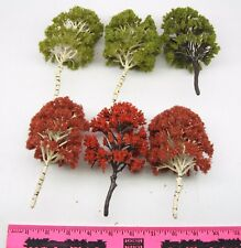 """The Menards ~ 6-Piece 5-1/2"""" Trees (Fall Colors)"""