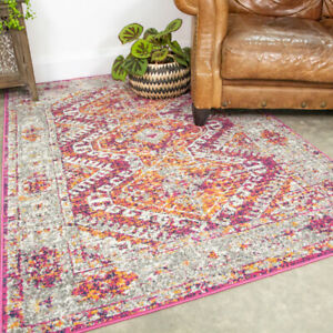 Vintage Distressed Pink Rug Small Large Traditional Rugs Long Hallway Runner Mat
