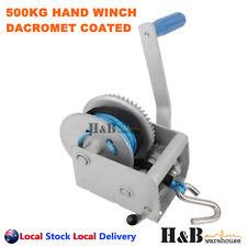 500 Kg Marine Hand Winch Anti-corrosion Coated 3 1 5mm X 8m Winch Rope 4wd