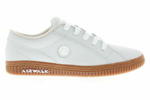 AIRWALK (THE ONE GUM) LEATHER SKATE SHOES WHEAT WHITE MENS SIZE 9 NEW FAST⚡