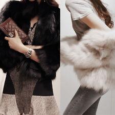 Women Faux Fur Short Coat Winter Warm Outwear Jacket Overcoat Casual Clothes
