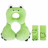 Infant Travel Head Neck Support Pillow with Strap Covers for Car Seat,Stroller