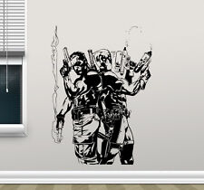 Deadpool Punisher Wall Decal Superheroes Vinyl Sticker Comics Decor Mural 143zzz