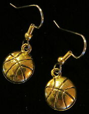 Basketball Earrings 24 Karat Gold Plate
