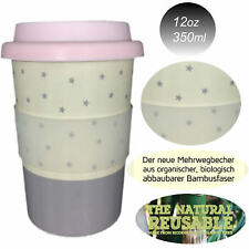 LS Coffee Cup Coffee To Go Becher 350ml Kaffeebecher Bambus Bamboo Sterne Stars