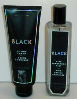 Bath & Body Works BLACK 8oz. Fine Fragrance Mist and Cosmic Cream NEW