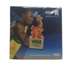 1 X 2012 Oficial Juegos Olímpicos de Londres Insignia pin de visa a estrenar en paquete