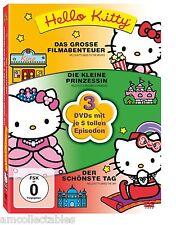 BOÎTE CD/DVD - HELLO KITTY - AVEC JE 5 épisodes SUR 3 DVD - NEUF/OVP