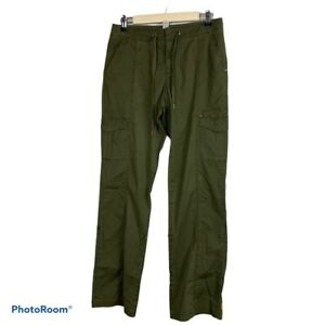 Lucy Activewear Cargo Fitness Pants Women's Size S Green Stretch Athleisure