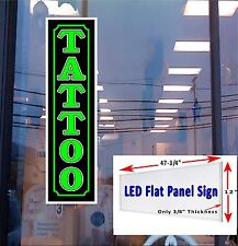 LED Light Box Sign TATTOO  Neon /Banner Alternative window sign 48x12x3/4