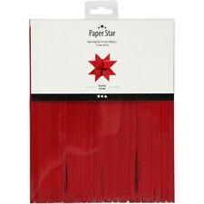 Fröbelstern Streifen rot 15 Mm X 45 Cm für 125 Weihnachtssterne