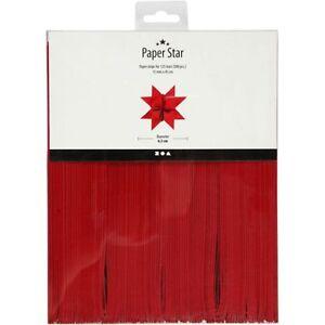 500 Papierstreifen für Fröbelsterne, Rot, 15 mm x 45 cm