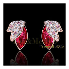 18k Rose Gold EP 3.46ct Brilliant & Marquise Cut Sapphire Crystal Stud Earrings