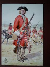 POSTCARD DERBY'S REGIMENT BLENHEIM 1704 PRIVATE  ALIX BAKER