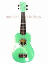 """Beautiful Green 21"""" Soprano Ukulele(Rosewood Fingerboard & Bridge) & Ukulele Bag"""