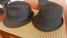 Fedora hat set(2 hats) Size S/M. 1wool/1cotton. First bid wins!!