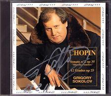 Grigory SOKOLOV Signiert CHOPIN Piano Sonata No.2 & 12 Etude Op.25 Opus111 CD