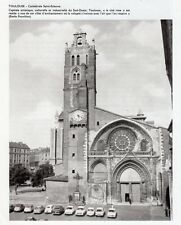 31 TOULOUSE CATHEDRALE SAINT ETIENNE IMAGE 1971 OLD PRINT