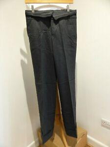 Comptoir Des Cotonniers grey wool blend Faim wide leg turn up trousers 38 10 VGC