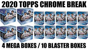 TOPPS CHROME MEGA BOX AND BLASTER BOX BREAK #77 PICK YOUR TEAM ⚾ 14 BOX BREAK ⚾