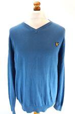 LYLE & SCOTT Mens Jumper Sweater XL Blue Cotton