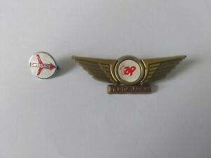 Old Enamel Swissair & Tap Airline Badges Pin Badge Squire Badges