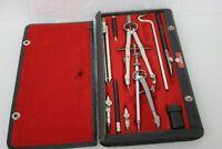 Post 1148 Quality Instruments Vintage Drafting Tools Set Original Case 1940's