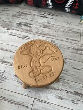 Hand Carved Childrens Wooden Stool Personalised